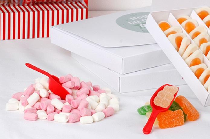 Cajas dulces como regalo a domicilio personalizable y original