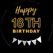 18th birthday black