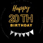 20h birthday black