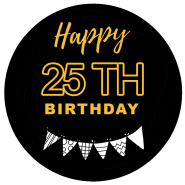 25h birthday black