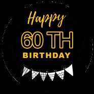 60h birthday black