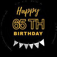 65h birthday black