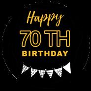 70h birthday black