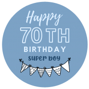 70h birthday boy