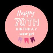 70h birthday girl