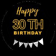 30h birthday black