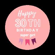 30h birthday girl