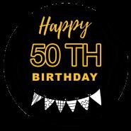 50h birthday black